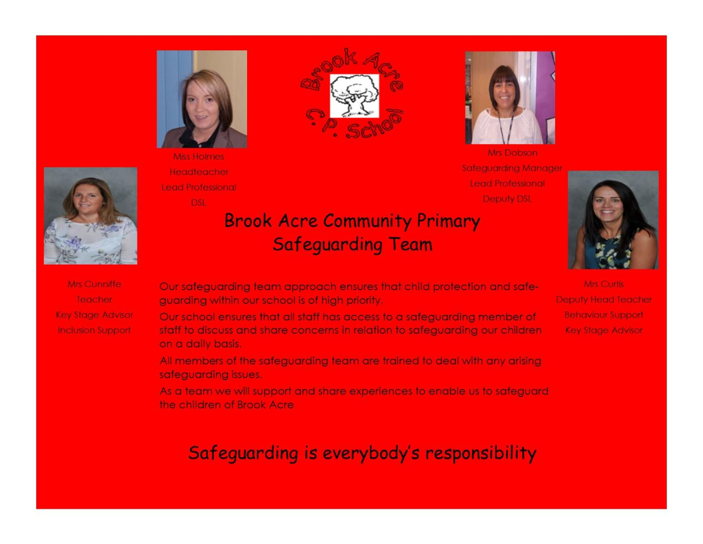 Safeguarding Team poster